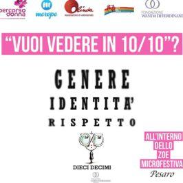 Presentazione progetto DIECIDECIMI allo ZoeMicrofestival di Pesaro