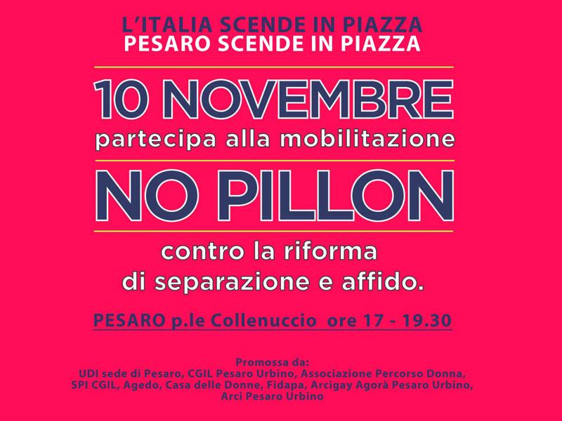 NO AL DISEGNO DI LEGGE PILLON