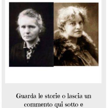 VOTA PER LEI: Lou Von Salomè e Marie Solomea Sklodowska Curie